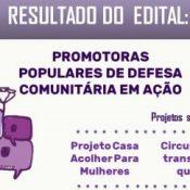 """MPMG e Cáritas divulgam resultado do edital """"Promotoras Populares de Defesa Comunitária em Ação"""""""